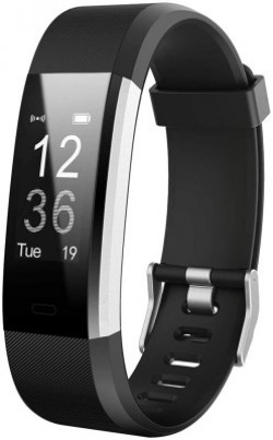 FitPlus FP04 Fitness Tracker with Free Diet Plan(Black Strap, Size : Free Size)