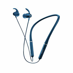 Wings Elevate, Smooth Silicon Neckband, Bluetooth 5.0 Wireless Earphones, Dual Pairing, Extra Heavy Bass Headphones Earbuds, 10 Hours Playtime (Blue)