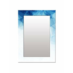 999Store Printed Wall Glass Mirror Mirror on Wall Blue Abstract washroom Bathroom Mirror (MDF_14X20 Inches) MirrorSMP306