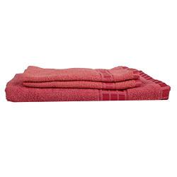 Eurospa Cotton Towel 380 GSM (Set of 3, Pink)