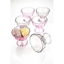 HEXIQON Plastic Bordered Desert Bowl - 125ml, 6 Piece, Transparent