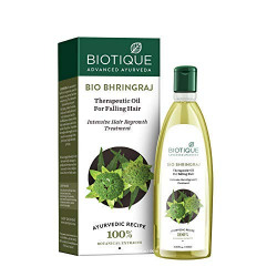 Biotique Bio Bhringraj Therapeutic Hair Oil for Falling Hair Intensive Hair Regrowth Treatment, 100ml
