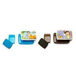 Signoraware Jungle Time and Dream Land Plastic Lunch Box Set, 2-Pieces, Multicolour