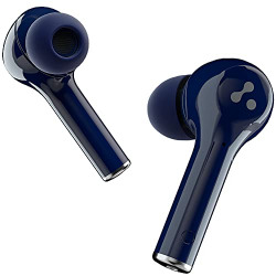 Ambrane NeoBuds 33 True Wireless in Ear Earbuds TWS with 15 Hours Total Playtime, High Bass Immersive Sound, Touch Controls, IPX4 Waterproof, Voice Assistance & with Mic (Indigo Blue), Normal