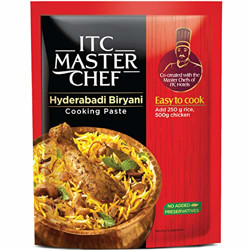ITC Master Chef Hyderabadi Biryani Cooking Paste 80g, Ready to Cook Spice Mix, Easy to Cook Masala Mix