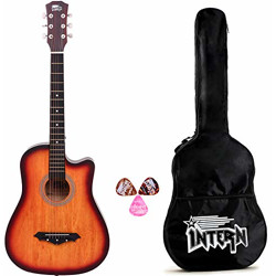 Intern INT-38C Sunburst Acoustic Guitar kit with carry bag & picks