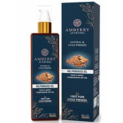 Amberry Ayurveda Nalpamaradi Thailam Intensive Skin Brightening Treatment and Skin repair 200ML   Blended Of Ayurvedic herbs,100% natural,Removes Blemishes and Pigmentaion (200ml, Blue)