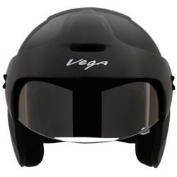 VEGA Junior Buds O/F Motorbike Helmet(Black)