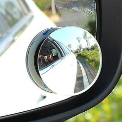 CarFrill Blind Spot Mirror, 2  Round HD Glass Frameless Convex Rear View Mirror Cars/Trucks/Vans, Pack of 2