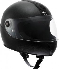 Flipkart SmartBuy Thunder ISI Marked Full-face 100% ABS with Unbreakable Visor Motorbike Helmet(Black)