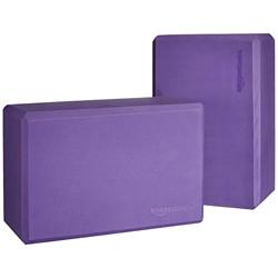 AmazonBasics Foam Yoga Blocks - 4 x 9 x 6 Inches, Set of 2, Purple