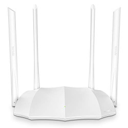 Tenda AC5 V3 AC1200 Wireless Dual Band WiFi Router,Speed Up to 867Mbps/5GHz + 300Mbps/2.4GHz, IPV6, Parental Control, Guest Network, 4 * 6dBi Externe Antennen (White, Not a Modem)