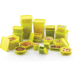 MASTER COOK MASTERCOOK PP 21 PC COMBO PACKS  - 10750 ml Polypropylene Fridge Container(Pack of 21, Green)