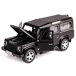 Metro Toy's & Gift 1: 32 Defender Alloy Model Car Acousto-Optic Pull Back Car Toy High Imitation Flash Toy Vehicle (Colour May Vary)