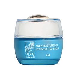 Rivona Naturals Aqua Moisturizing & Hydrating Day Cream for Moisturization, Damage Repair, Natural Nourishment & Total Protection with Anti Aging Properties - 50 G