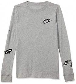 Nike Boy's Regular T-Shirt (CI4190-063_Grey M)