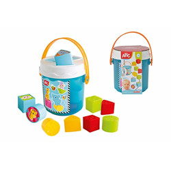 Simba ABC Colorful Sorting Learning Bucket for Kids, Blue