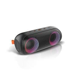 Zebronics Zeb-Music Bomb X Wireless 20W Portable Speaker, 4000 mAh Battery, RGB Lights, IPX7 Water Resistant, Wireless BT/AUX, Type C Charging, Metal Hook (Black)