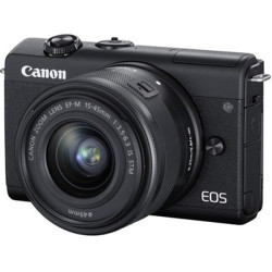 Prepaid offer&Lowest Price Canon EOS M200 Mirrorless Camera Body with Single Lens (EF-M15-45mm f/3.5-6.3 IS STM)  (Black)