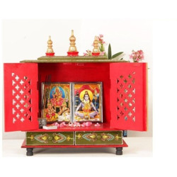 kamdhenu art and craft Wooden Temple/ Home Temple/ Pooja Mandir/ Pooja Mandap/ Temple for Home Solid Wood Home Temple(Height: 53 cm)
