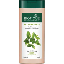 BIOTIQUE Bio Henna Leaf Fresh Texture Shampoo & Conditioner 180 ml(180 ml)
