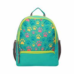 Nivia Paws School Bag-Aqua/Green
