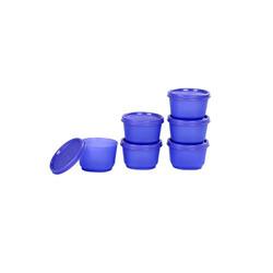 Signoraware Mini Fresh Container Set, 130ml, Set of 6, Deep Violet