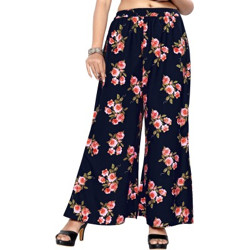 ABEER DESIGNER Relaxed Women Dark Blue Trousers