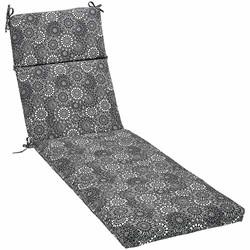 AmazonBasics Lounger Patio Cushion- Poly Batting - Black Floral