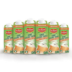 Del Monte King Coconut Water with No Added Preservatives -250ml (Pack of 6)