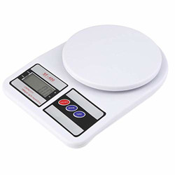THEMISTO Electronic Kitchen Digital Weighing Scale, Multipurpose (White, 10 Kg)