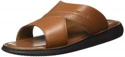 Woods Men's Leather Slipper-10 UK/India (44 EU) (GP 2860118_TAN Brown_10)