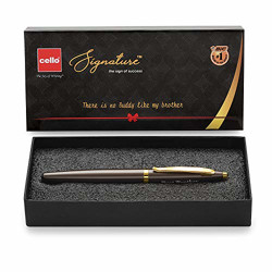 Cello Signature Premium Pen   Ideal Rakhi gift for brother   Cello Pens   Rakshabandhan gifts   Smooth Writing Roller Pen   Best Brother engraved pen   Rakhi Pen Gift set   Best Brother gift pack