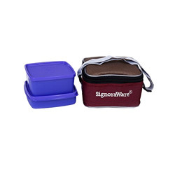 Signoraware Quick Carry Lunch Box with Bag, Violet