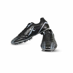 Vector X Speed Football Shoes (Black-Grey) (Size-9)