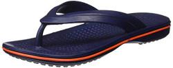 PARAGON Men's Navy Blue-Orange Flip-Flops-9 UK/India (44 EU) (EV1129GNBO)