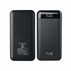 World Of PLAY 20000mAh Power Bank PBA20 (Black) with Li-Polymer Batteries and Fast Charging, Compact Size for Smartphones, Smart Watches, Neckbands & Other Devices