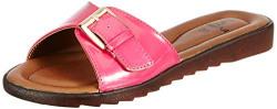 Feetful Women's Pink Fashion Slippers - 6 UK (39 EU) (6.5 US) (571-35)