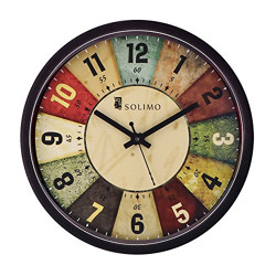 [Many Options] Solimo (11 inc) Wall Clock Upto 70% Off starting at Rs.308