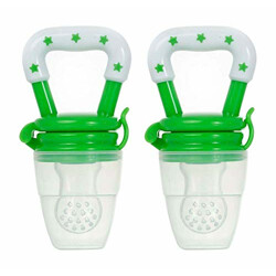 Ole Baby Food Feeder Grow with Me Set Toy Silicone Teether Nibbler (Green, OB-Bff-B1214) Pack of 2