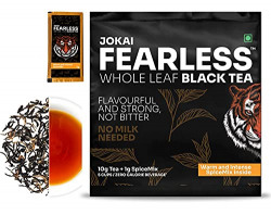 Fearless - Whole Leaf Loose Black Tea - With Warm & Intense Spice Mix - 20gm Tea + 2gm Spice Mix = (10 Cups) (Pack of 2)