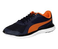 Puma unisex-adult Flex T1 Reveal Idp Peacoat-Puma Black-Vi Peacoat-Puma Black-Vibrant Orange Sneaker-11UK (36832007)