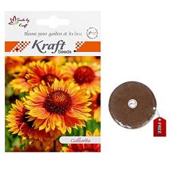 Gaillardia Flower Seeds with Free Agropeat Tikki by Kraft Seeds