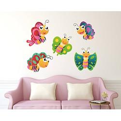 Wallstick Colourful Butterflies wallstickers (Vinyl 55 cm x 40 cm)