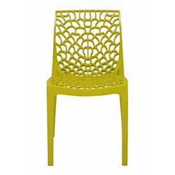 Supreme Web Plastic Chair (Lemon Yellow)(1)