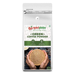 Nutriplato-enriching lives Green Coffee Beans Powder 300 g-Weightloss Management ; Source of Antioxidants ; In Coffee Valve Pouch Packing