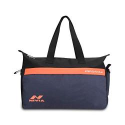 Nivia Prism 1 Large Bag-Navy/Orange