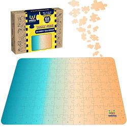 Webby Gradient Puzzle Wooden Jigsaw Puzzle, 108 Pieces, Multicolor