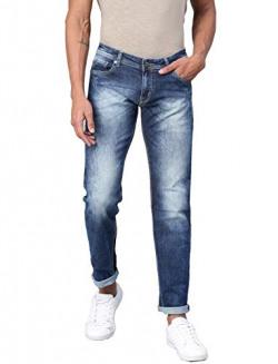 AMERICAN CREW Men's Slim Fit Jeans (ACJN1001-32_Blue_32)