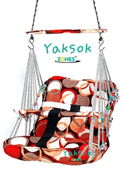 Cotton Swing Chair For Kids Baby's Children Folding & Washable 1-4 Years With Safety Belt-Indoor Swing For Kids   Baby Swing   Kids Product  Swing For Babies   Kids Swing   Swing For Baby-Kids Hanging